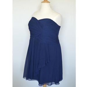 49296c18493b David's Bridal Dresses - David's Bridal F14847 MARINE Short Chiffon Dress
